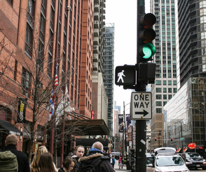 chicago, city, and sign image