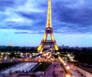 eiffeltower, paris, and sunset image