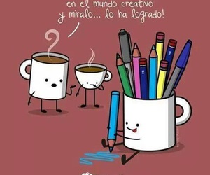 creative, colors, and coffe image