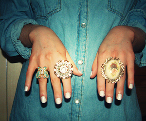 rings, ring, and denim image