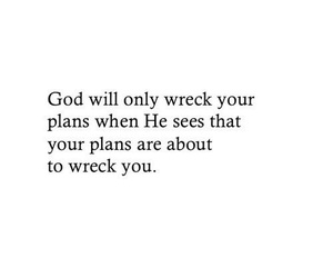 quote, god, and plan image