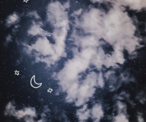 sky, stars, and clouds image