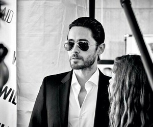 30 seconds to mars, black and white, and jared leto image