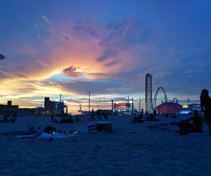 colours, sunsets, and coneyisland image
