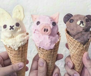 ice cream, food, and pig image