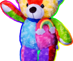 bear, colorful, and png image