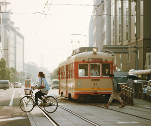 bicycle, vintage, and bus image