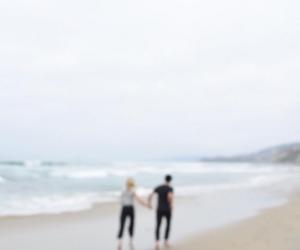 beach, ocean, and couple image