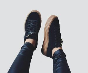 shoes, black, and puma image
