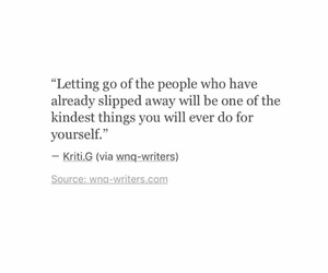 deep, let go, and quote image