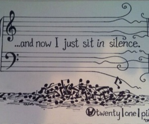 music, silence, and twenty one pilots image