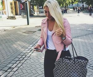 blonde, pink, and Zara image