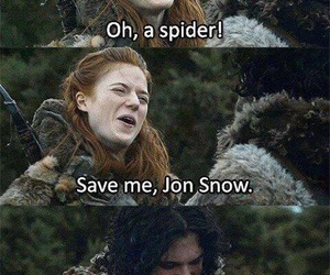game of thrones, ygritte, and jon snow image