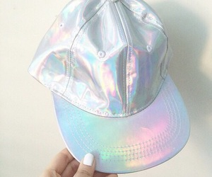 holographic, cap, and hat image