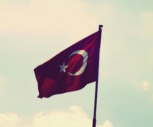 flag, turkiye, and turkey image