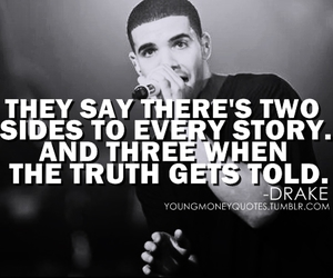 quote, Drake, and truth image