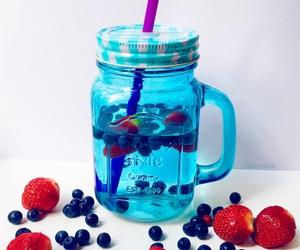 drink, berries, and food image