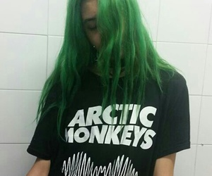 arctic monkeys, green, and grunge image