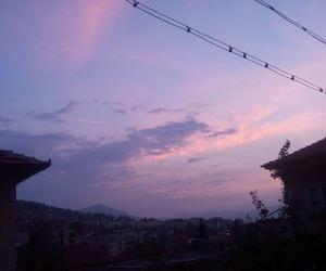 purple sky, sky, and sunset image
