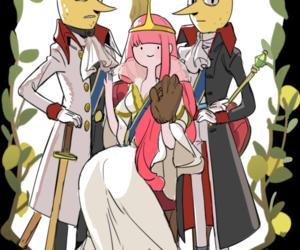 adventure time, princess bubblegum, and lemongrab image