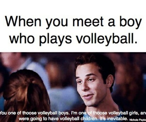 boy, sport, and volleyball image