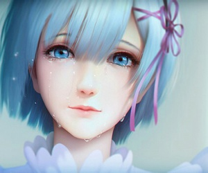 anime, rem, and anime girl image