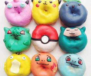 pokemon, donuts, and food image