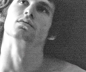Jim Morrison, the doors, and black and white image