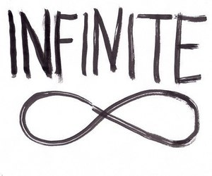 infinite, infinity, and text image