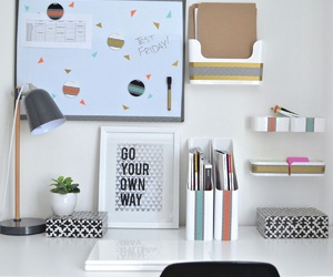 desk, decor, and organization image