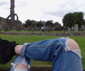 grunge, jeans, and pale image
