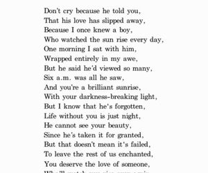 poem, quote, and teenager image