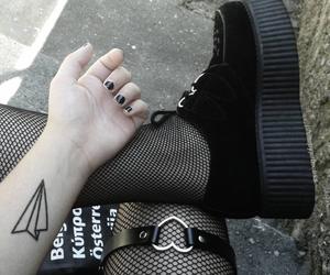black, tattoo, and grunge image