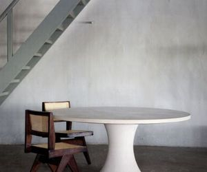 chair, marble, and wood image