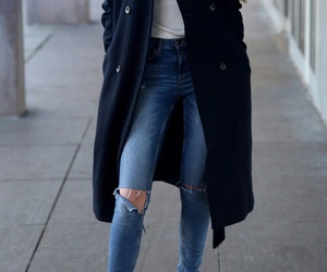 fashion, jeans, and buttons image