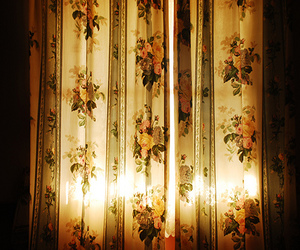 flowers, curtains, and light image