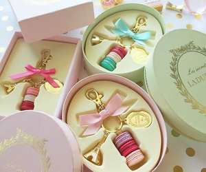beautiful, keychain, and macaroons image