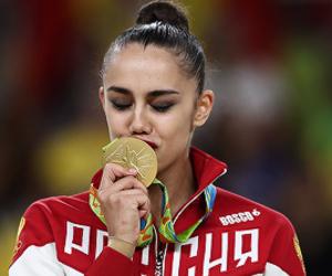 gold, olympic games, and rhythmic gymnstics image