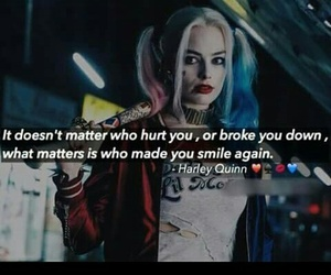 broke, harley quinn, and smile image
