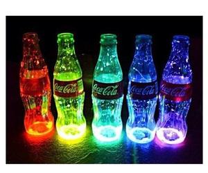 coca cola, neon, and coca-cola image