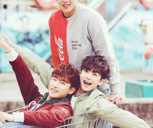 i.m, shownu, and hyungwon image