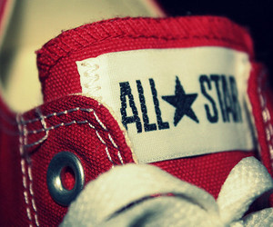 all star, converse, and red image