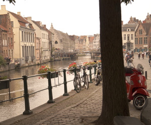 belgium, scooter, and water image