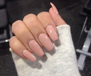 nails, pink, and Nude image