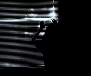 black, black and white, and creepy image