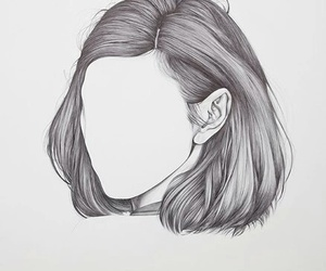 art, hair, and drawing image