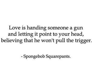 love, quotes, and spongebob image