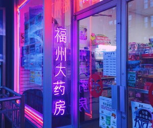 neon, aesthetic, and purple image
