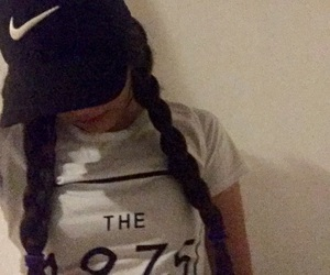 black, braids, and cap image
