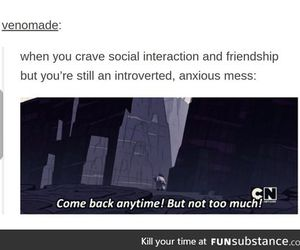 anxiety, friendship, and introvert image